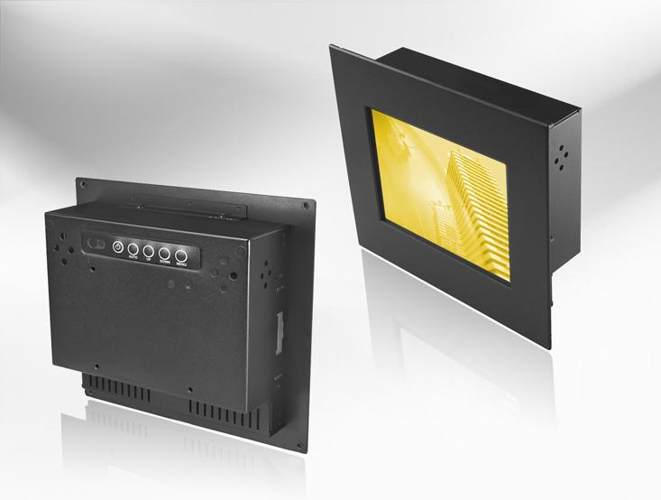 Ecran LCD industriel 5,7″ intégrable par l'avant, OSD arrière