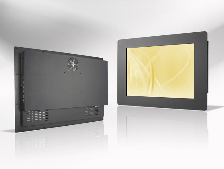 Ecran LCD industriel 23,1″ intégrable par l'avant, OSD arrière