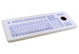 Clavier étanche 105 touches en boitier de table avec trackball 38mm