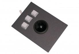 Trackball 38mm industrielle 3 boutons intégrable par l'avant