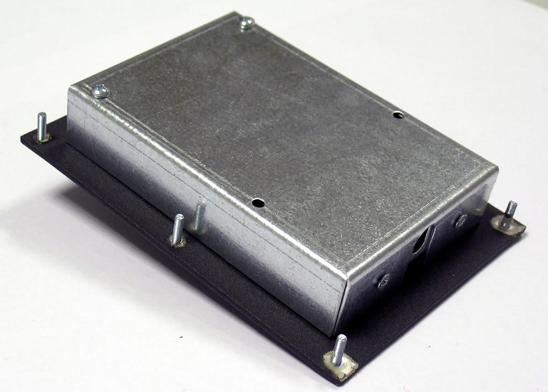 Trackball industrielle 38mm 3 touches vue arrière
