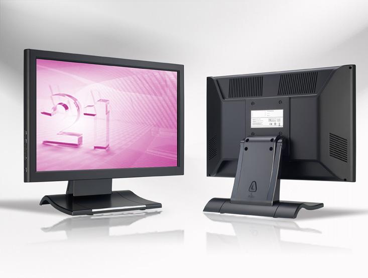 Ecran LCD industriel 17″ Wide tactile en boitier de table