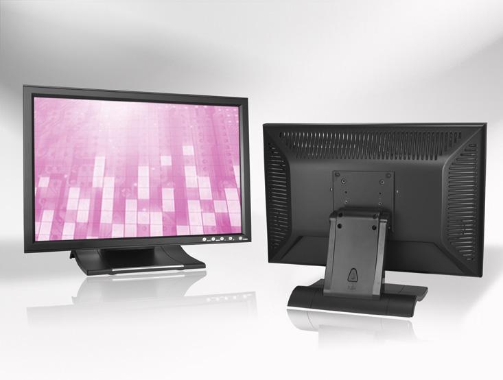 Ecran LCD industriel 19″ Wide tactile en boitier de table