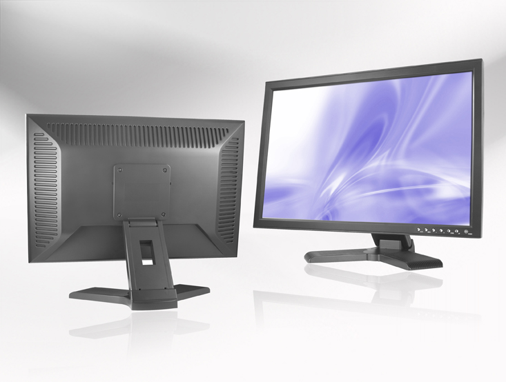 Ecran LCD industriel 22″ Wide non tactile en boitier de table
