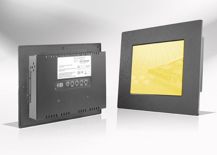 Ecran LCD industriel 7″ intégrable par l'avant, OSD arrière