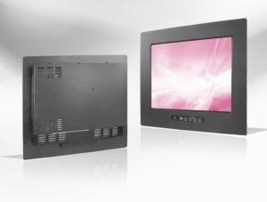 Ecran LCD industriel 4/3 intégrable par l'avant, OSD avant