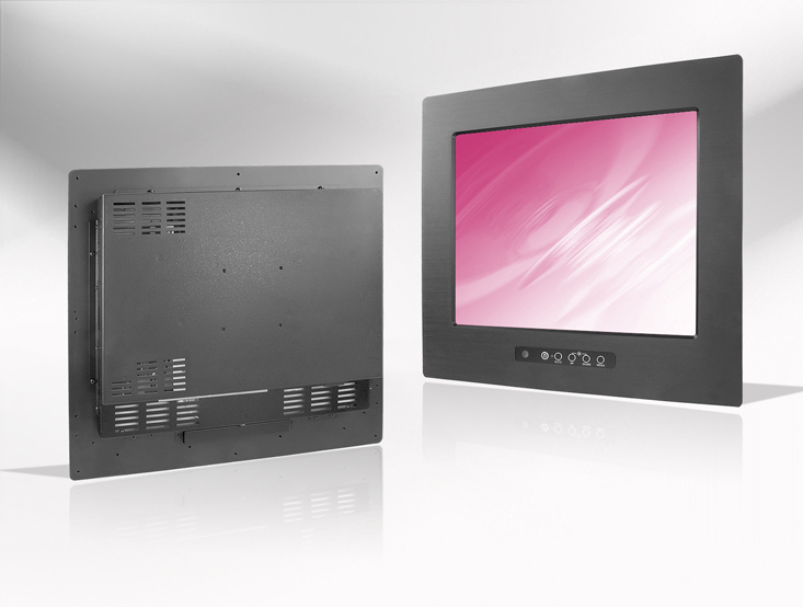 Ecran LCD industriel 12″ intégrable par l'avant, OSD avant