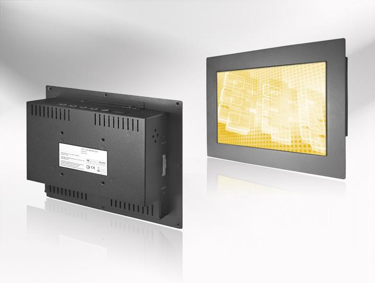 Ecran LCD industriel 12″ intégrable par l'avant, OSD arrière