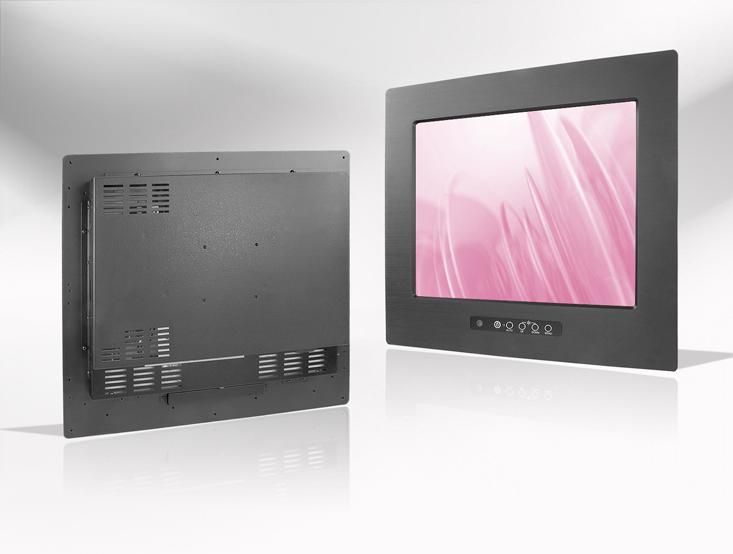 Ecran LCD industriel 15″ intégrable par l'avant, OSD avant