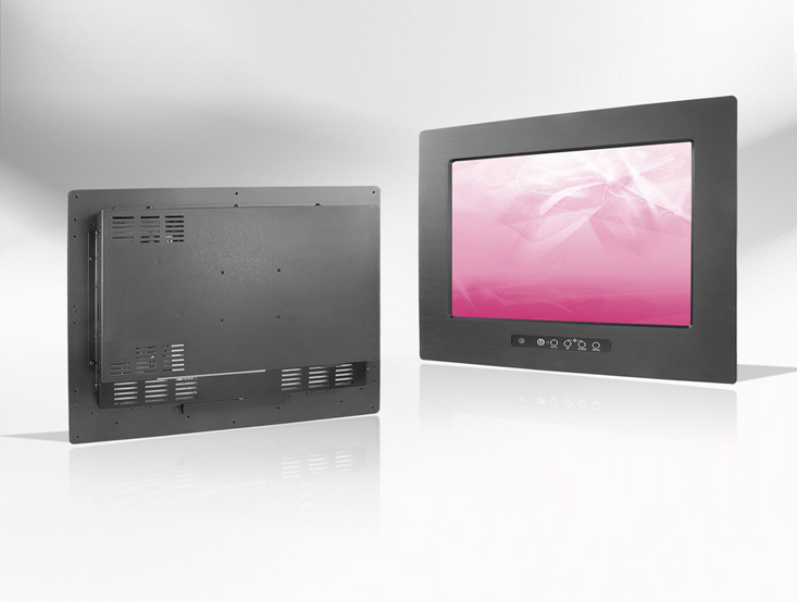 Ecran LCD industriel 24,1″ intégrable par l'avant, OSD avant