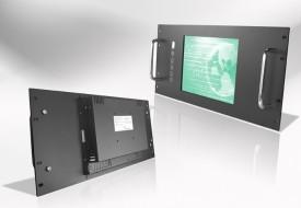 Ecran LCD industriel 4/3 intégrable en rack 19