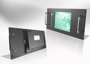 "Ecran LCD industriel 4/3 intégrable en rack 19"""
