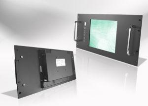 "Ecran LCD industriel Wide intégrable en rack 19"""