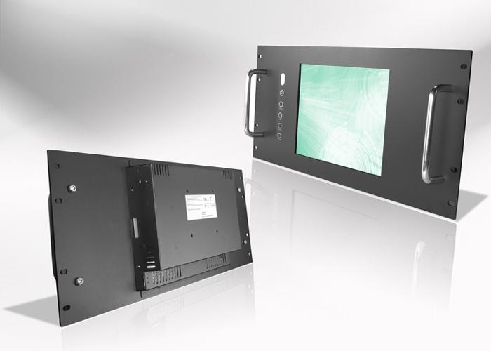 Ecran LCD industriel 12,1″ intégrable en rack 19″