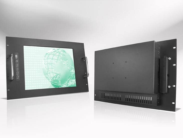 Ecran LCD industriel 15,4″ intégrable en rack 19″