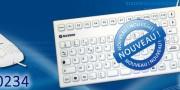 Nouveau : NX5900, clavier silicone 106 touches économique, garanti 2 ans, fabrication allemande