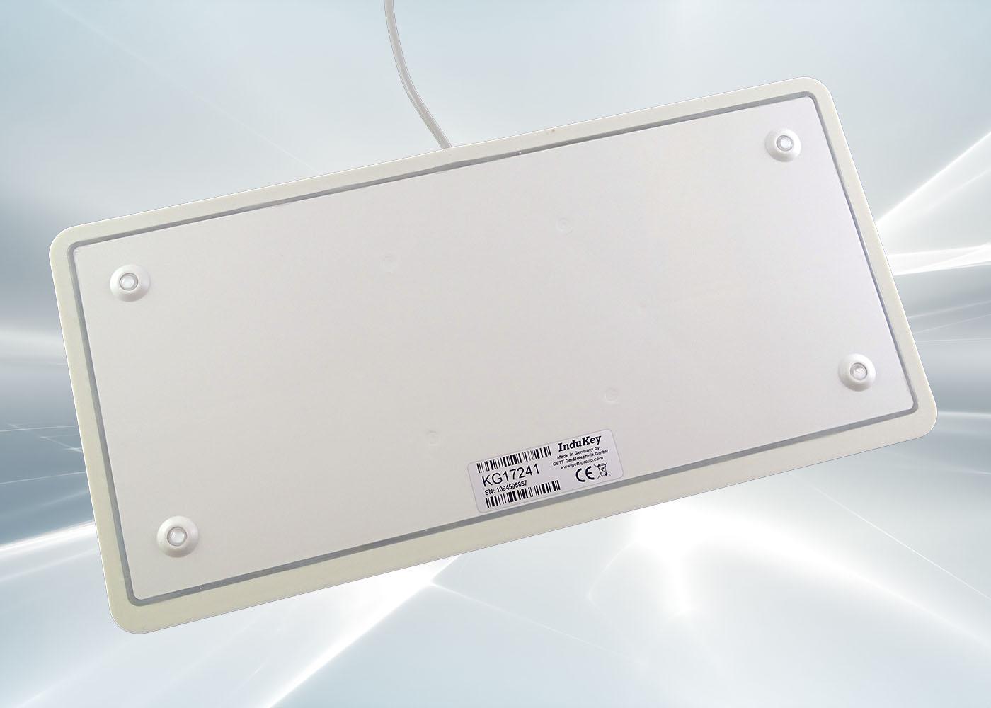 Clavier lavable 104 touches blanc étanche IP68 – Vue arrière