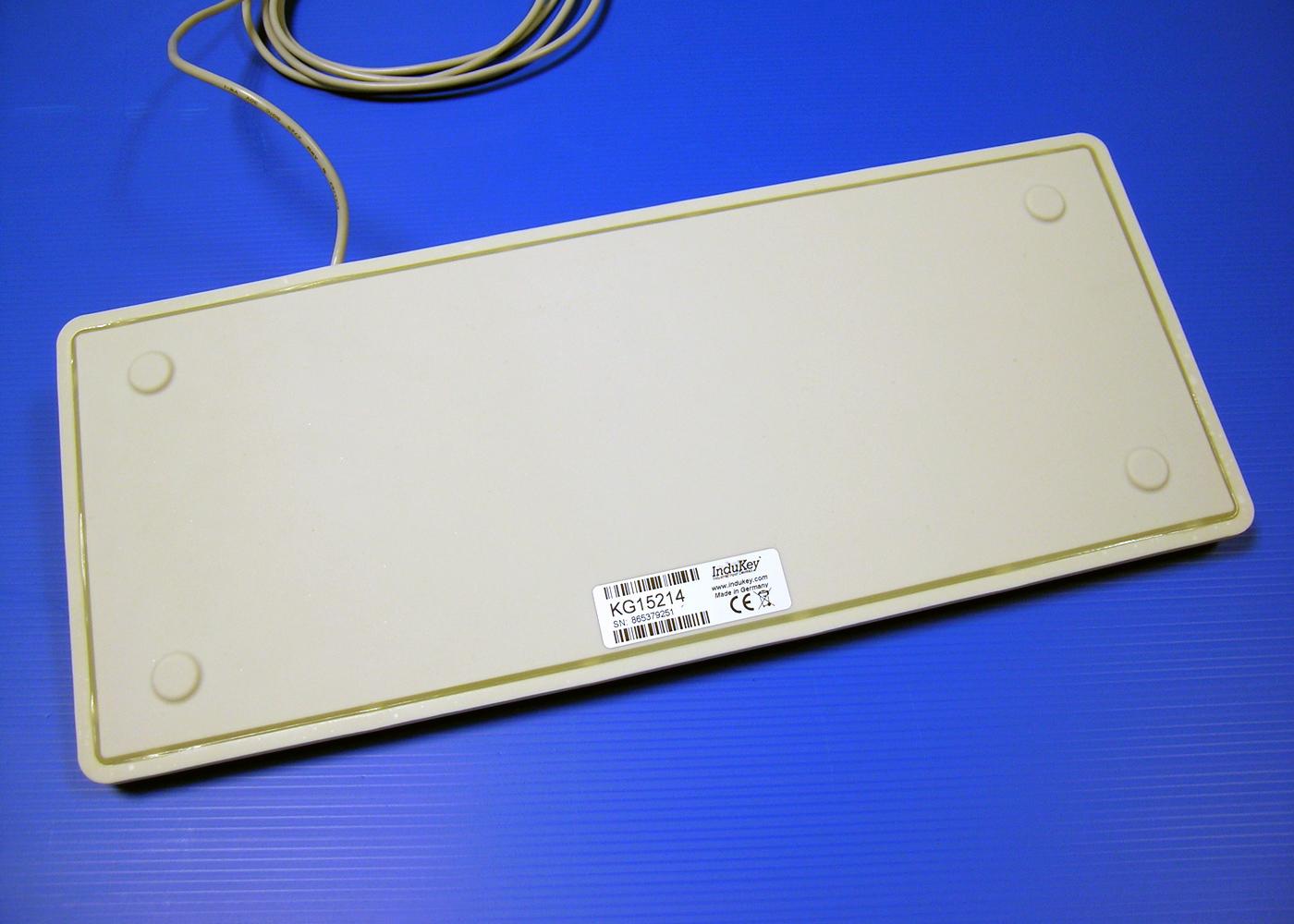 Clavier lavable 105 touches étanche IP68 avec vernis antimicrobien – Vue arrière