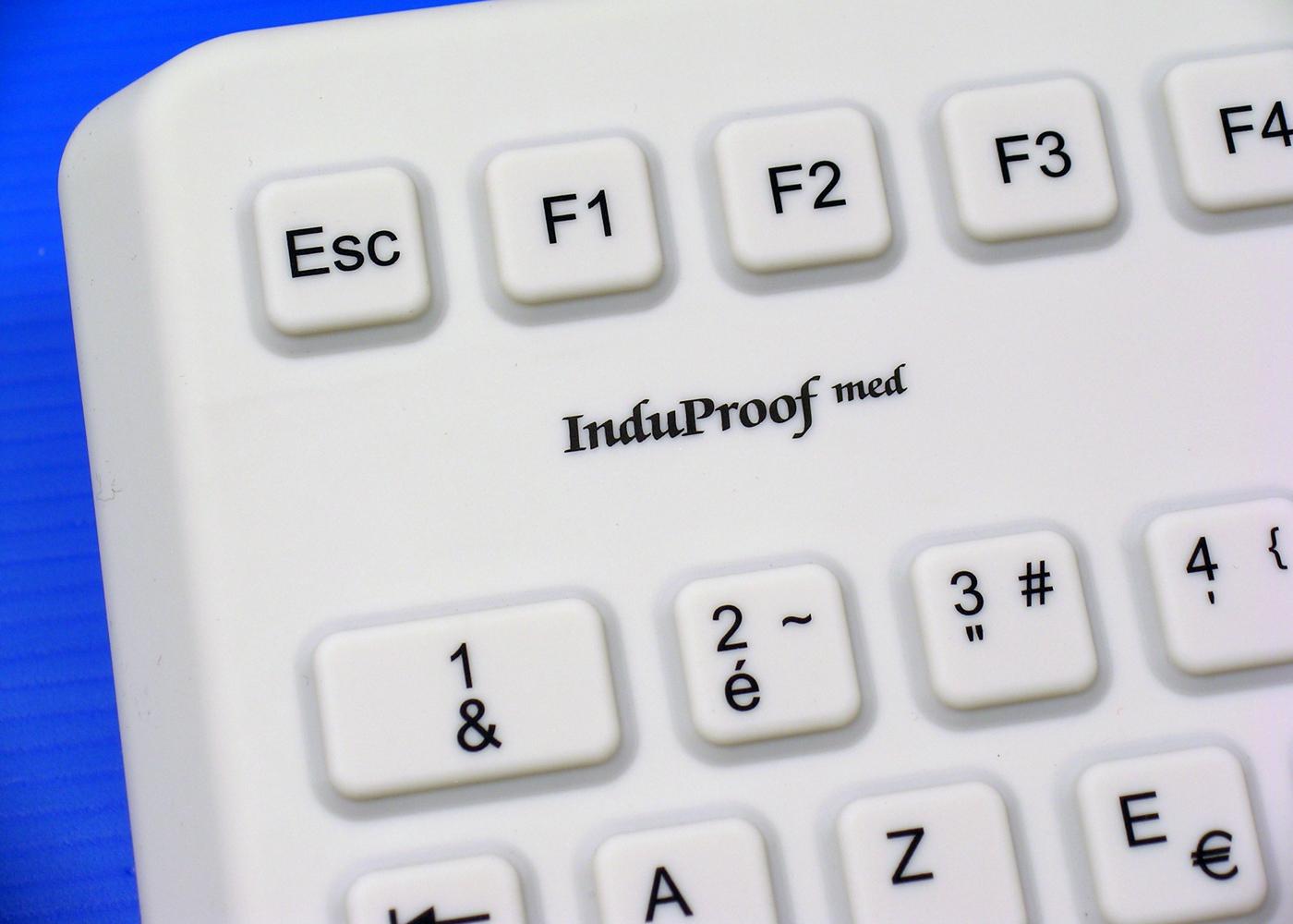 Clavier lavable 105 touches étanche IP68 avec vernis antimicrobien – Vue détail