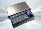 Clavier industriel 105 touches avec trackball 38mm 2U en tiroir 19″