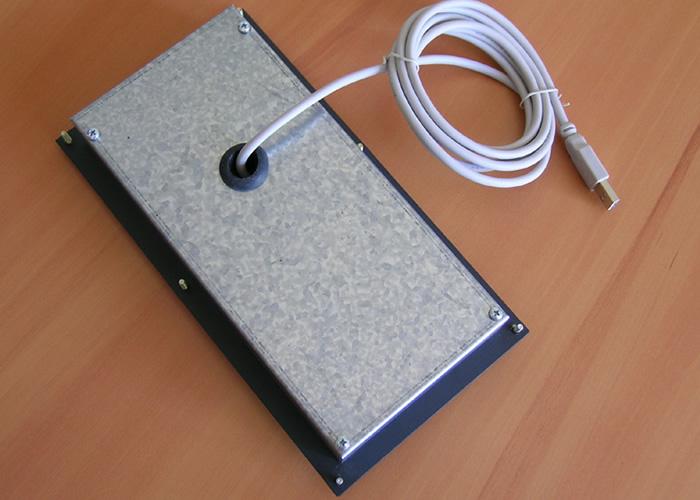 Clavier industriel 17 touches intégrable par l'avant avec trackball 38mm – Vue arrière