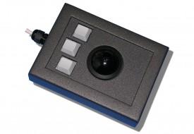 Trackball 38mm industrielle 3 boutons en boitier de table