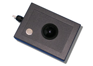 Trackball 38mm industrielle 1 bouton en boitier de table