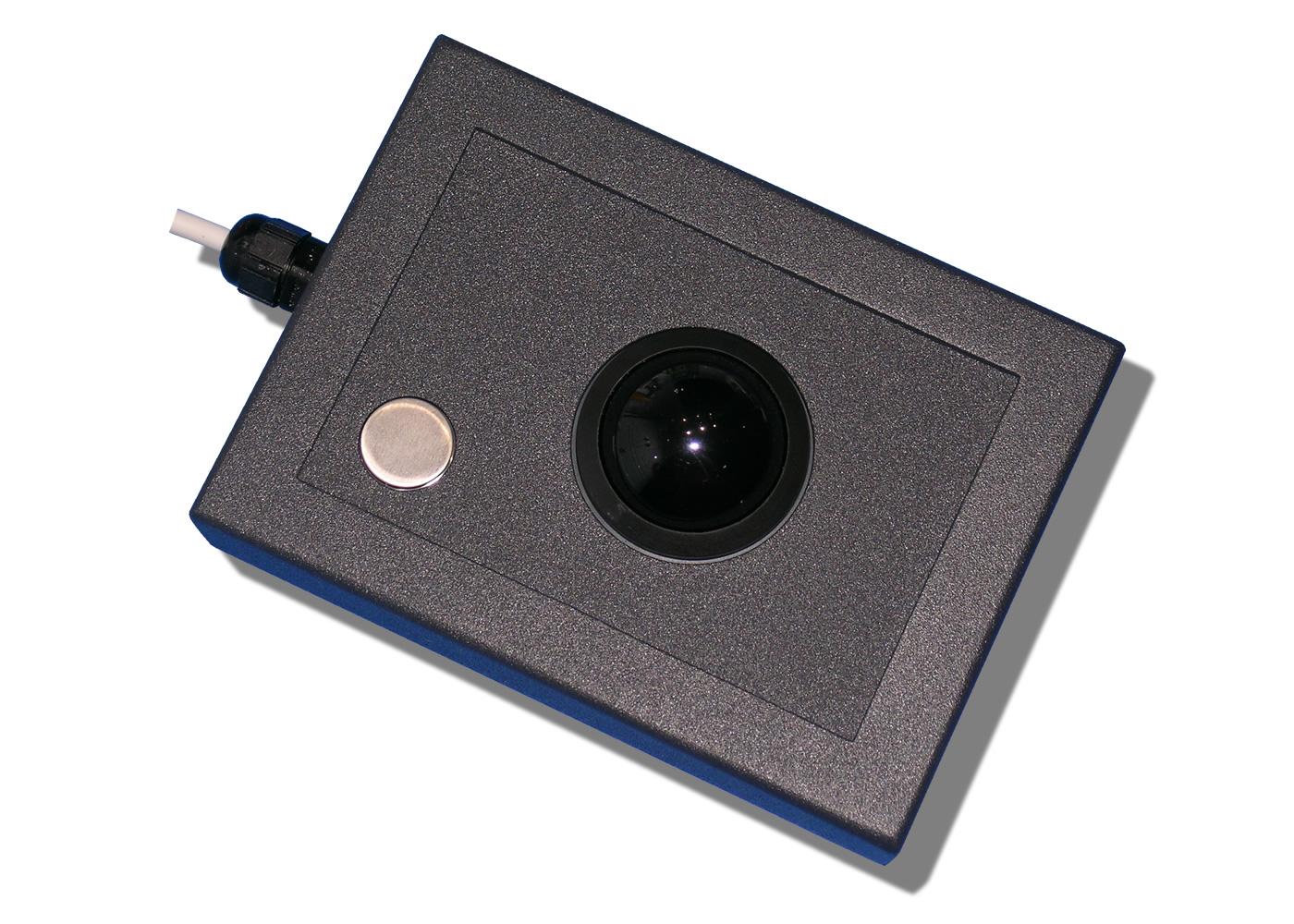 Trackball 38mm industrielle 1 bouton en boitier de table