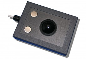 Trackball 38mm industrielle 2 boutons en boitier de table