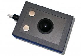 Trackball 38mm industrielle 2 boutons en boitier de table