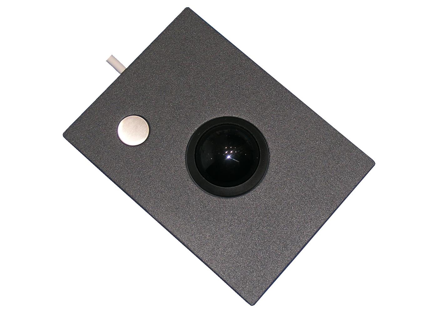 Trackball 38mm industrielle 1 bouton intégrable en panneau par l'avant