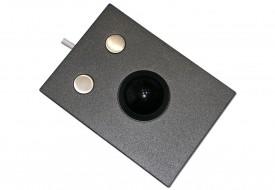 Trackball 38mm industrielle 2 boutons intégrable par l'avant