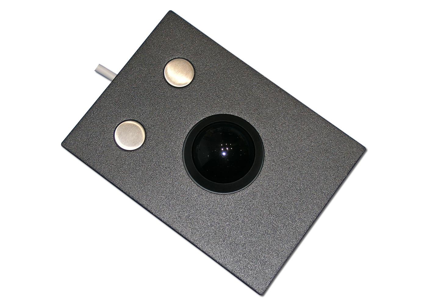 Trackball 38mm industrielle 2 boutons intégrable en panneau par l'avant
