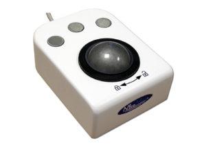 Trackball 50mm industrielle 3 boutons en boitier de table