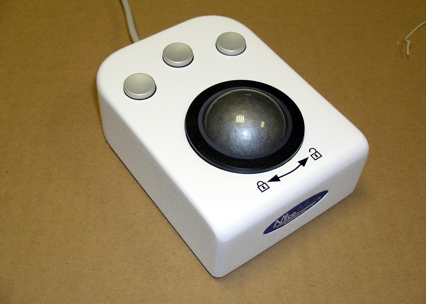Trackball 50mm 3 boutons en boitier de table – Version boutons haut profil