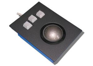 Trackball 50mm industrielle intégrable en panneau par l'avant