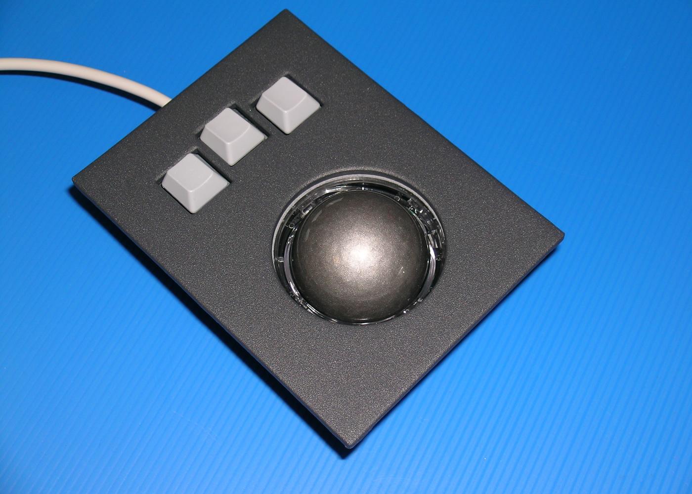 Trackball 50mm industrielle intégrable en panneau par l'avant – Bague dévissable pour nettoyage