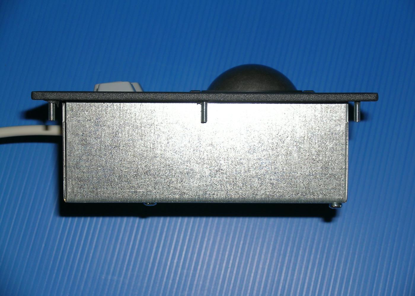 Trackball 50mm industrielle intégrable en panneau par l'avant – Vue de coté