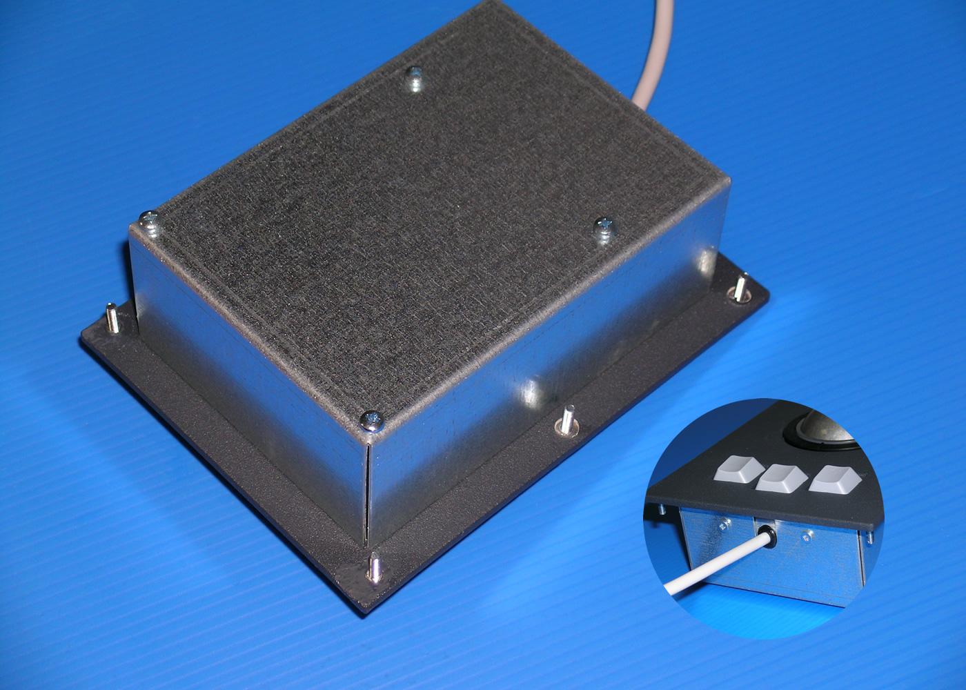 Trackball 50mm industrielle intégrable en panneau par l'avant – Vue arrière