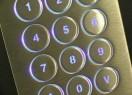 Clavier inox antivandale 12 touches rétroéclairées en boitier mural – Rétroéclairage bleu