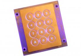 Clavier inox antivandale 12 touches rétroéclairées en châssis ouvert (OEM)