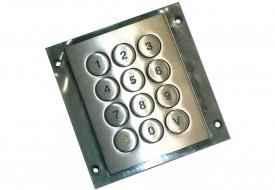 Clavier inox antivandale 12 touches en châssis ouvert (OEM)