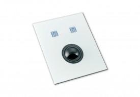 Trackball 38mm industrielle 2 boutons microswitchs intégrable par l'avant