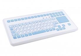 Clavier étanche 88 touches en boitier de table avec touchpad - Antimicrobien