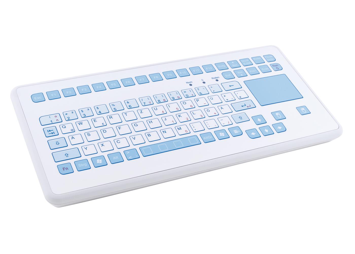 Clavier étanche 88 touches en boitier de table avec touchpad – Antimicrobien