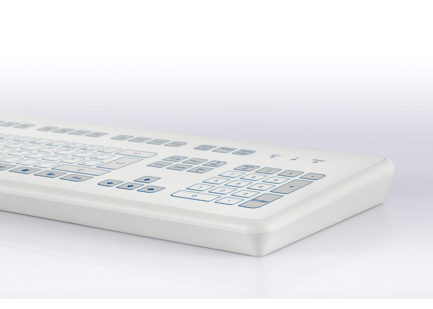 Clavier étanche 105 touches en boitier de table vue de détail