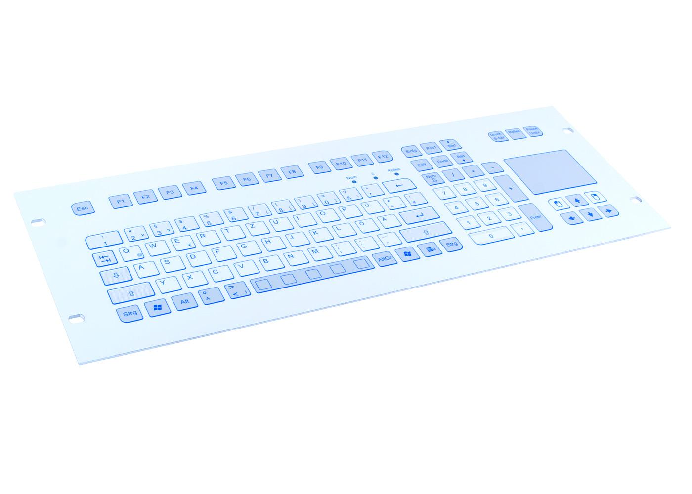 Clavier 105 touches 4U intégrable en rack 19″ avec touchpad