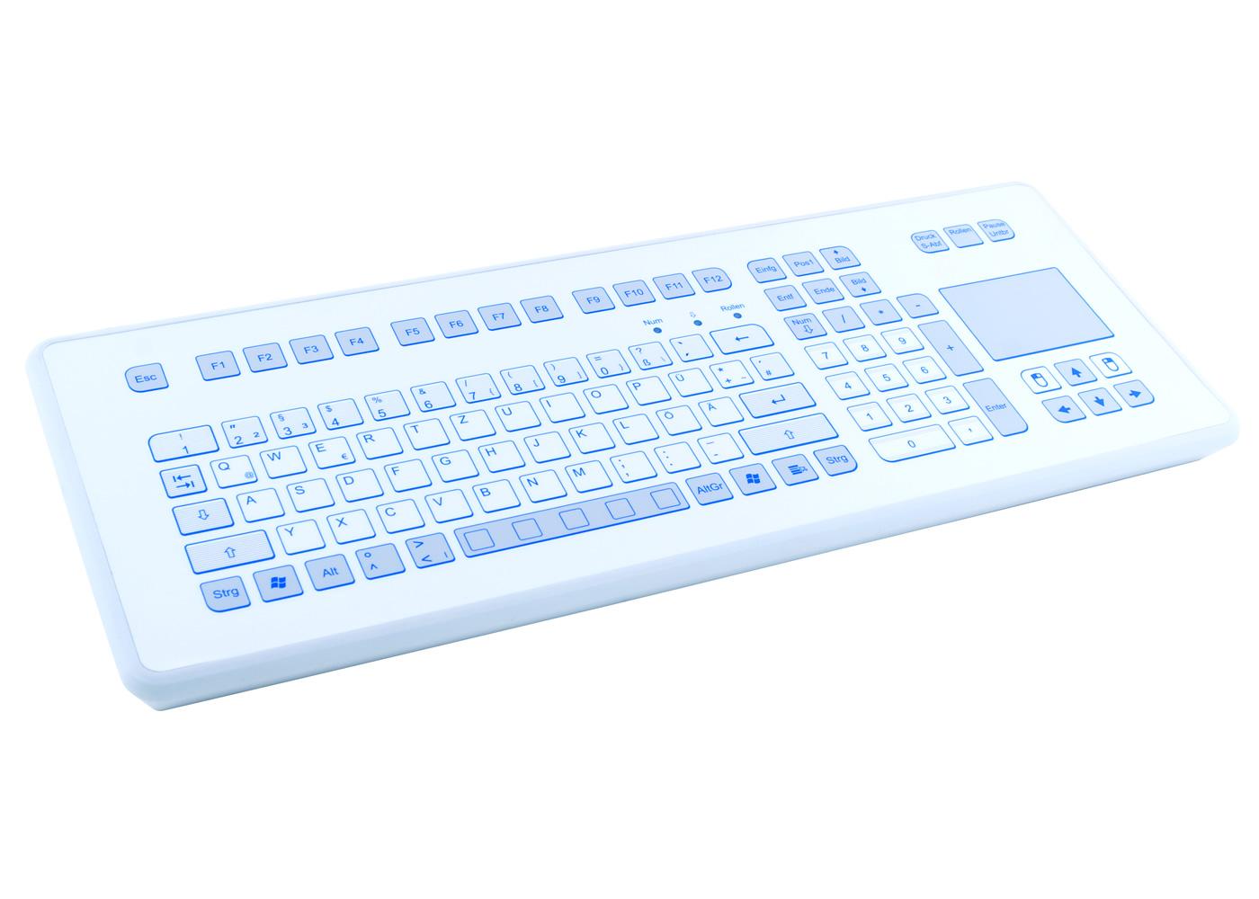 Clavier étanche 105 touches en boitier de table avec touchpad