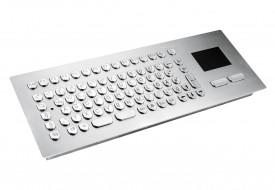 Clavier inox antivandale 84 touches intégrable par l'avant avec touchpad