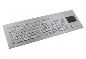 Clavier inox antivandale 105 touches intégrable par l'avant avec touchpad
